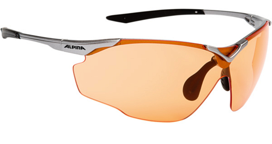 Очки солнцезащитные ALPINA PERFORMANCE SPLINTER SHIELD C+ titan-black/orange fogstop S1