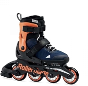 Роликовые коньки Rollerblade 2020 Microblade Midnight Blue/Warm Orange