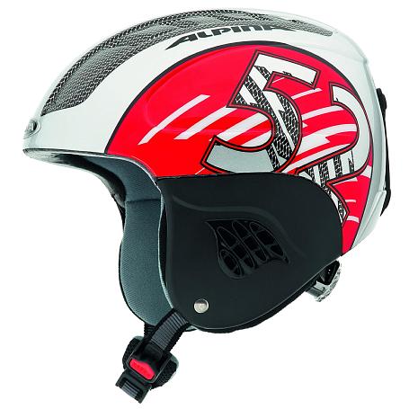Купить Зимний Шлем Alpina JUNIOR CARAT silver-red, Шлемы для горных лыж/сноубордов, 1131313