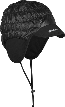 Шапка Salewa Accessories ORTLES PRL EARFLAP HAT black