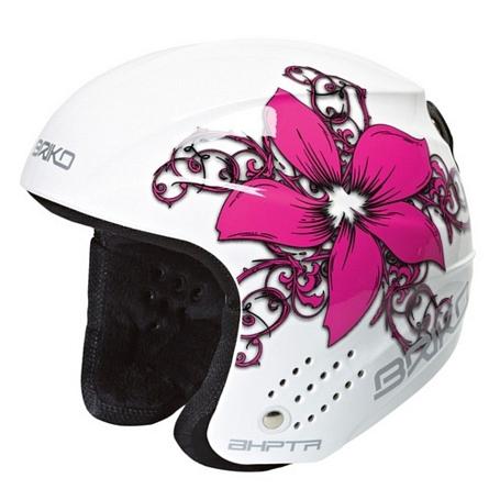 Купить Зимний Шлем Briko ROOKIE FLOWER WHITE PURPLE (F050), Шлемы для горных лыж/сноубордов, 772432