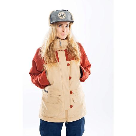Купить Куртка сноубордическая I FOUND 2014-15 FINCH JACKET INCENCE/ бежево-коричневый Одежда 1140735