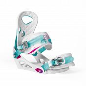 Сноуборд крепления NIDECKER 2015-16 ELLE WHITE/BLUE