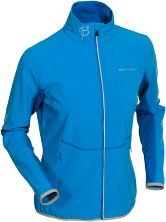 Куртка беговая Bjorn Daehlie Jacket BARRIER Women (Brilliant Blue/Skydiver) голубой/синий