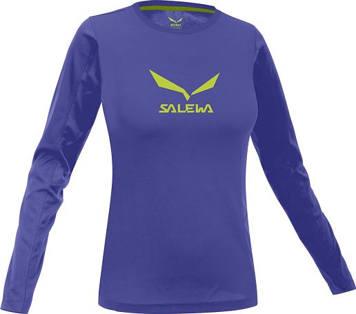 Купить Футболка для активного отдыха Salewa 2015 CLIMBING ALPINDONNA SOLIDLOGO CO W L/S TEE spectrum blue/5340 / Одежда туристическая 1165839