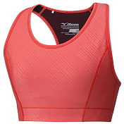 Топ беговой Mizuno 2019 Aero High Support Bra коралловый