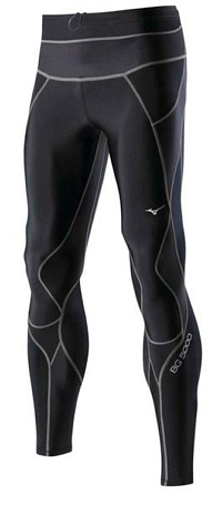 Тайтсы беговые Mizuno 2014 Biogear BG5000 Long Tight чер/т.сер