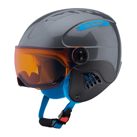 Купить Зимний Шлем Alpina CARAT VISOR grey-blue, Шлемы для горных лыж/сноубордов, 1279920