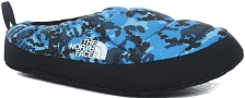 Тапки The North Face Nuptse Tent Mule III Clear Lake Blue Digi Topo Print/TNF Black