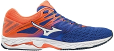 Марафонки Mizuno 2019 Wave Shadow 2 Reflex Blue/White/Nasturtium