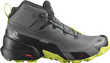 Ботинки SALOMON Cross Hike Mid GTX Magnet/Black/Lime Punch