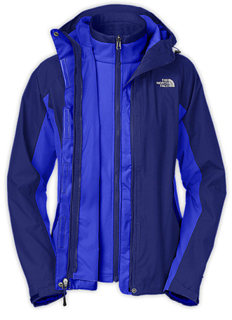 Куртка туристическая THE NORTH FACE 2012-13 Outerwear W EVOLUTION TRICLIMATE JACKET (VIBRANT BLUE/BOLT BLUE) синий