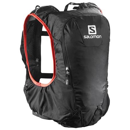 Купить Рюкзак SALOMON 2018 SKIN PRO 10 SET Black/Brightred Рюкзаки универсальные 1384368