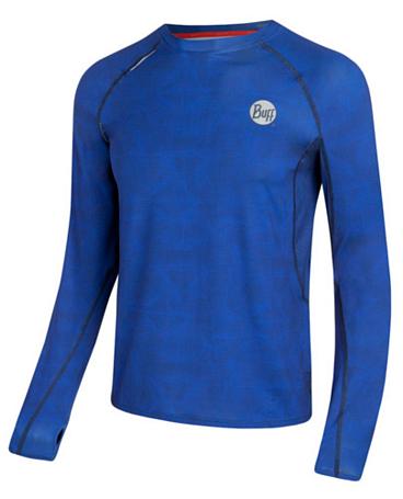 Купить Футболка с длинным рукавом беговая BUFF T-SHIRT L.SL. BELL ULTRAMARINE (т.синий) Одежда туристическая 877985
