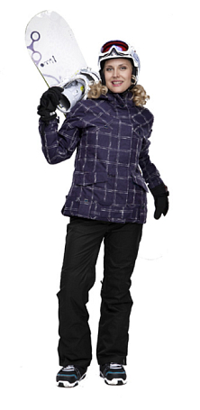 Куртка сноубордическая POWDER ROOM 2011-12 ZENITH JACKET Navy/Plum/Cream - Slub Plaid