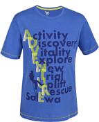 Футболка для активного отдыхаОдежда для активного отдыха<br>Воздухопроницаемая хлопковая футболка для молодых альпинистов, будет ярко выделять их, с иллюстрацией, расположенной по всей передней стороне.<br><br>Comfort functions: <br>- дышащий<br><br>Технические характеристики<br>Сортировка по размерам: 92, 104, 116, 128, 140, 152, 164, 176<br>Основной материал: Cotton jersey 130<br>Крой: стандартный крой<br>Длина спины: 49 cm<br>Вес: 67 g