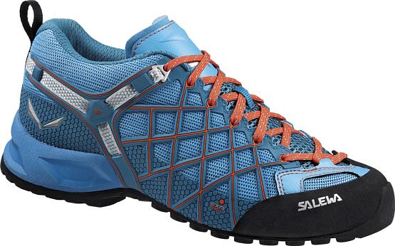 Купить Ботинки для треккинга (низкие) Salewa 2017 WS WILDFIRE VENT River Blue/Clementine Треккинговая обувь 1157957