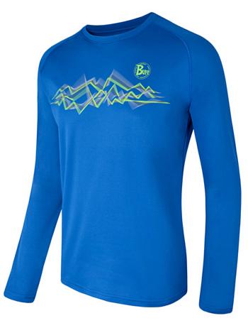 Купить Футболка с длинным рукавом беговая BUFF Sawteeth (Mazarine) синий, Одежда лыжная, 808428