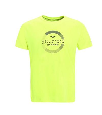 Купить Футболка беговая Mizuno 2016 Transform Tee жёлтый, Одежда для бега и фитнеса, 1264853