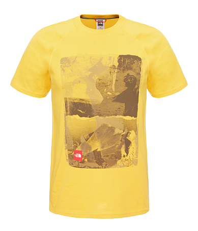 Футболка для активного отдыха THE NORTH FACE 2016 M S/S HISTORY TEE  FREESIA YELLOW FREESIA YELLOW
