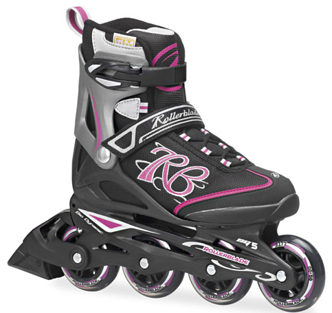 Купить Роликовые коньки Rollerblade 2014 ZETRABLADE W BLACK/PINK Ролики взрослые 1076182
