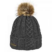 ШапкаГоловные уборы<br>Женская вязаная шапка с меховым помпоном<br> <br> -шерсть<br> -отворот<br> -рельефная вязка<br>
