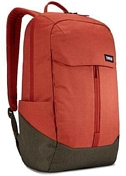 Рюкзак THULE Lithos Backpack 20L - Rooibos/Forest Night красный