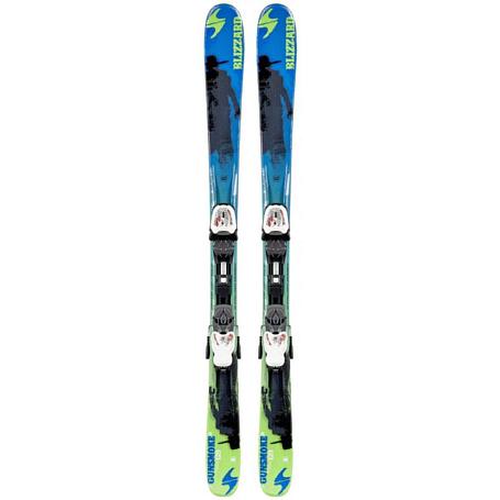 Купить Горные лыжи с креплениями Blizzard 2014-15 Junior GUNSMOKE IQ JR+IQ-7(119-139) BLU-GRE-BLA 1119690