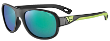 Очки солнцезащитные CEBE 2020 Zac Matt Black Lime/1500 Grey PC Blue Light Green
