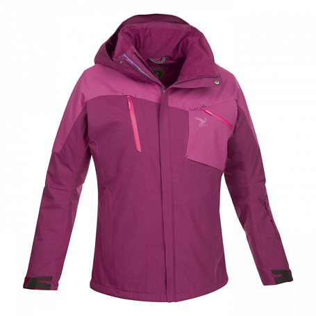 Куртка туристическая Salewa MOUNTAINEERING ALPINDONNA VALSCURA PTX/PRL W JKT beet red/6490/6480