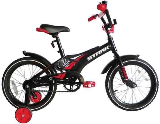 Купить Велосипед Stark Tanuki 16 Boy 2017 Черно-Красный, До 6 лет (колеса 12 -18 ), 1317880