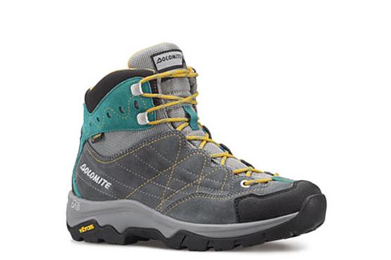 Купить Ботинки для хайкинга (высокие) Dolomite 2017-18 Fairfield Gtx Wmn Charcoal/Lake Green, Треккинговая обувь, 1267266